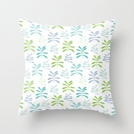 Bromeliads - sea glass Throw Pillow
