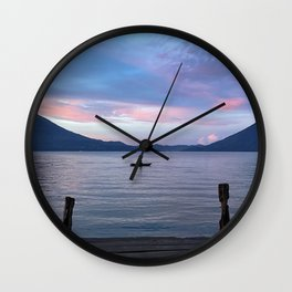 Lake Atitlan Guatemala Wall Clock
