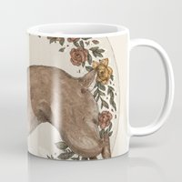 rabbit Mugs featuring Rabbit by Jessica Roux