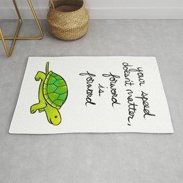 """""""Forward is Forward"""" Turtle Rug"""