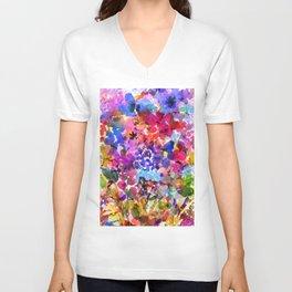 Jelly Bean Wildflowers Unisex V-Neck