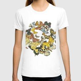 A Kaleidoscope Of Vintage Butterflies Vector T-shirt
