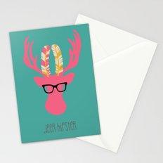 Deer Hipster Stationery Cards