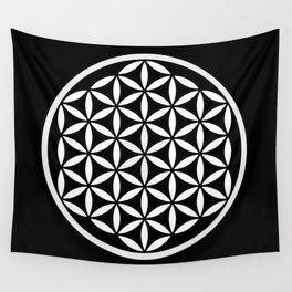 Flower of Life Yin Yang Wall Tapestry