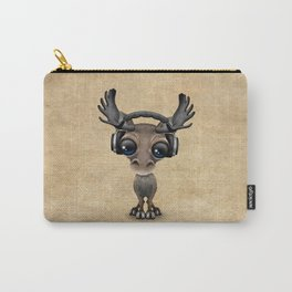 Cute Musical Moose Dj Wearing Headphones Carry-All Pouch