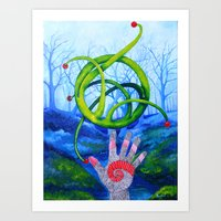 The Hand That Builds Art Print