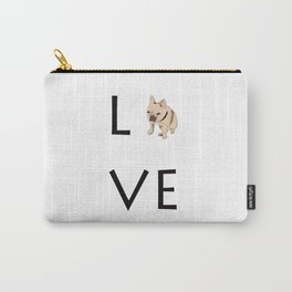 French Bulldog Love Print Carry-All Pouch
