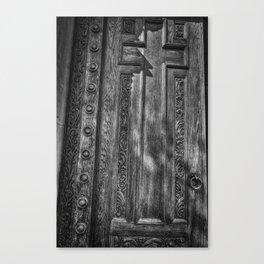 The Cross On The Door Canvas Print