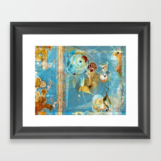 Cosmodigilogital Honey Framed Art Print