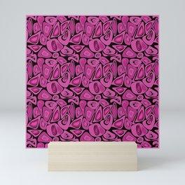 Retro Black raspberry abstraction Mini Art Print