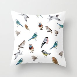 I love birds Throw Pillow