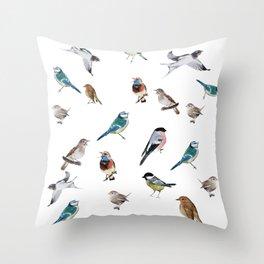 I love birds Throw Pillow