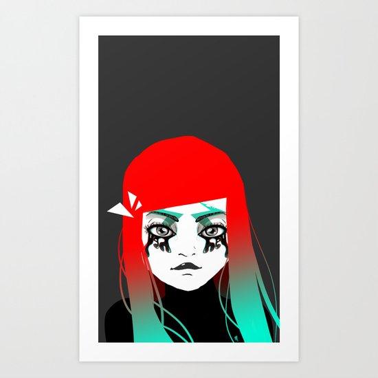 Hey girl ! Art Print