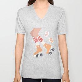 Roller skate girl 004 Unisex V-Neck