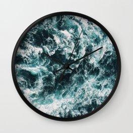 Wavy Baby Ocean Print Wall Clock