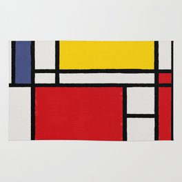 Abstract Mondrian Style Art Rug
