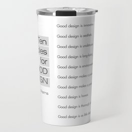 Ten principles for Good Design. By Dieter Rams Travel Mug