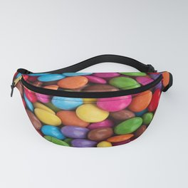 cute rainbow colors chocolate candy Fanny Pack