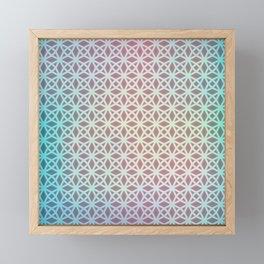 Pink and Blue Gradient Geometric Framed Mini Art Print