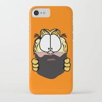 garfield iPhone & iPod Cases featuring Garfield Cat Beard by Stuff Your Eyes