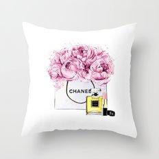 Coco Mademoiselle Fashion Drawing Wall Art Fashion Illustration Print Perfume Coco Custom Art Throw Pillow