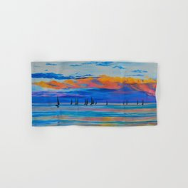 I'd Rather Be Sailing by Teresa Thompson Hand & Bath Towel