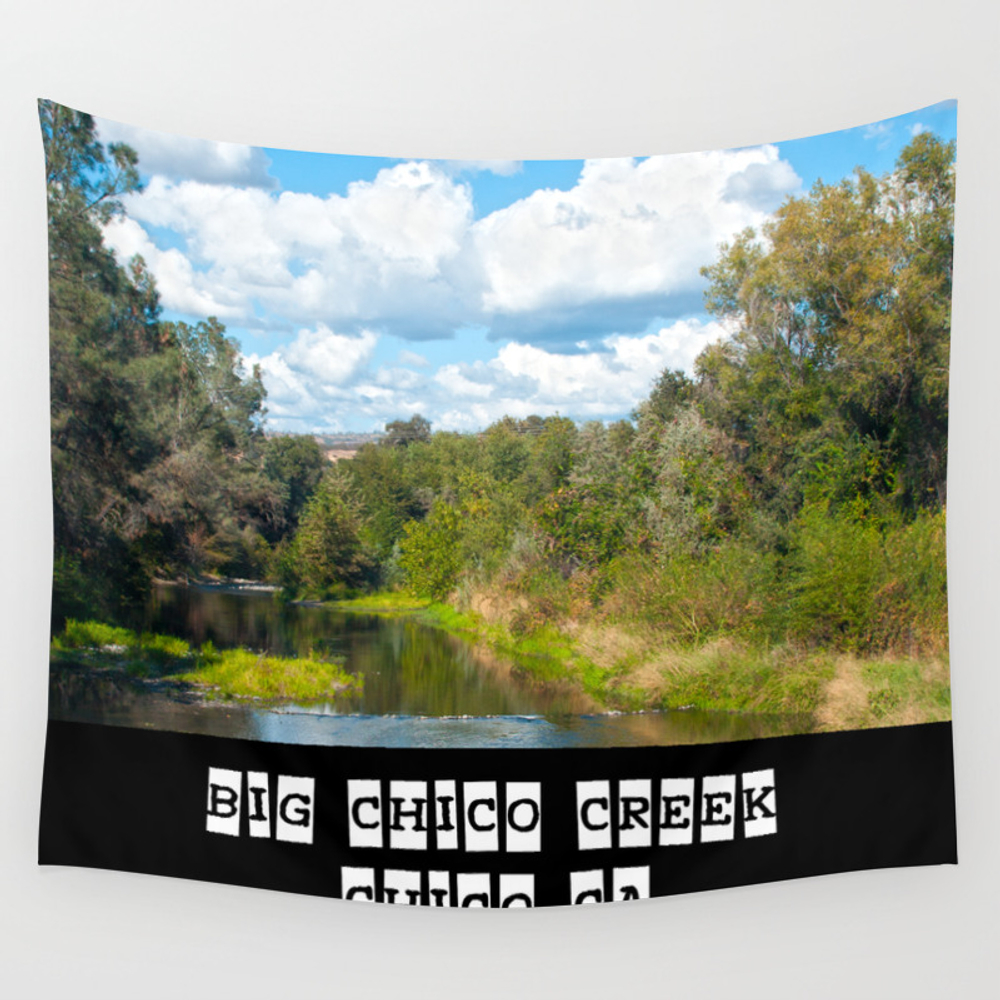 Big Chico Creek, Chico Ca Wall Tapestry by Davideakins TPS2917861