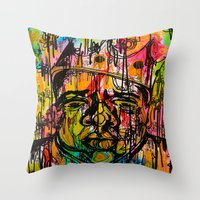 notorious Throw Pillows featuring Notorious  by Lauren Mair