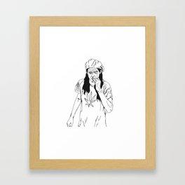 slater-san Framed Art Print