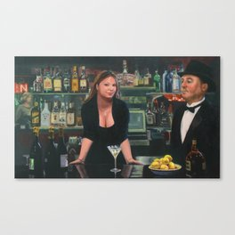 Bar at the Corner Cafe Canvas Print