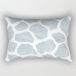 Chambray denim giraffe camo Rectangular Pillow