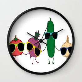 Cool-vegetables Wall Clock