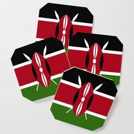 Kenya flag emblem Coaster