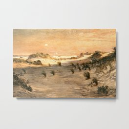 African American Masterpiece 'Sand Dunes at Sunset, Atlantic City' by Henry Ossawa Tanner Metal Print
