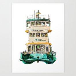 Sydney classic #9: Manly Ferry Art Print