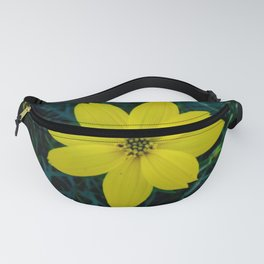Yellow flower on green grass 1 Fanny Pack