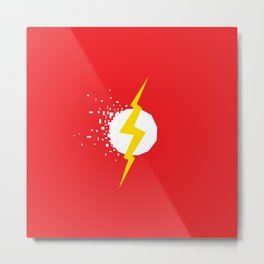 Square Heroes - Flash Metal Print