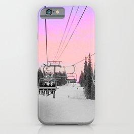 Ski Lift Sunset Shot on iPhone 4 iPhone Case
