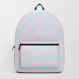 Swirl 60ies in pink and aqua - Circles on #Society6 Backpack