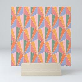 Gisela Pattern - Vintage Rainbow Mini Art Print