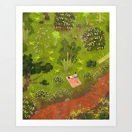 spring picnic Art Print