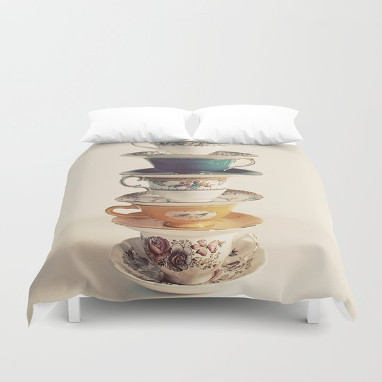 teacups Duvet Cover