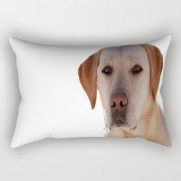 Portrait of A Golden Labrador Dog Rectangular Pillow