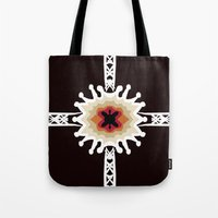 gift card Tote Bags featuring A Gift for You by barefoot art online