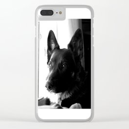 Mad Dog Longs for the Outdoors Clear iPhone Case