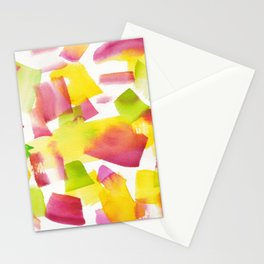 180719 Koh-I-Noor Watercolour Abstract 34| Watercolor Brush Strokes Stationery Cards