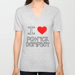 I Love Patrick Dempsey Unisex V-Neck