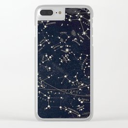 Constellation Chart Clear iPhone Case