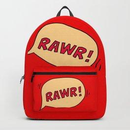 Rawr speech bubble Backpack