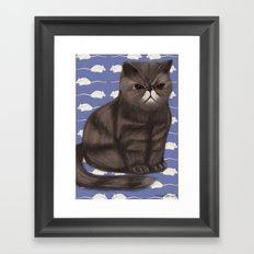 Cranky Cat / Shitty Kitty Framed Art Print